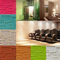 3D Tile Brick Wall Sticker Self-adhesive Waterproof Foam Panel DIY Wallpaper New