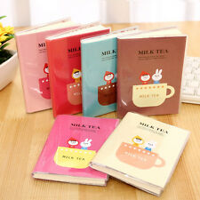 New Cute Korean Stationery Memo Charming Portable Milk Tea Diary Notebook Pro