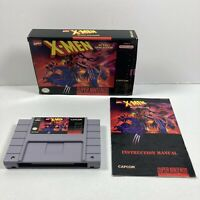 X-Men: Mutant Apocalypse Nintendo SNES Authentic Game Box Manual Tested working