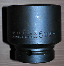 """Proto® 1"""" Drive Impact Socket Size: 55 mm - 6 Point made in USA Proto J10055M"""