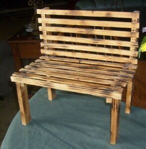 """Natural wood garden planter bench, side-by-side seating, 16"""" x 16"""" X 10"""""""