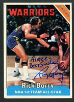 Rick Barry #100 signed autograph auto 1975-76 Topps Basketball Trading Card