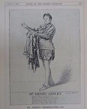 "7x10 ""Punch Cartoon 1926 Señor Punch `s personalidades, el Sr.. Henry ainley"