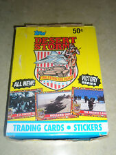 1991 Topps Desert Storm Victory Series 2 Box 36 Packs 8 Cards+1 Sticker Per Pack