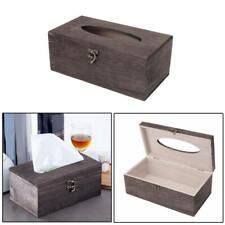 1Pc Wooden Retro Tissue Box Toilet Paper Cover Case Napkin Holder Home Car Decor