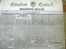 1800 Boston MA newspaper w 4 references to The RECENT DEATH of GEORGE WASHINGTON