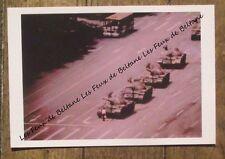 Carte format CPSM,Printemps de pekin 1989,Tian An Men, chars