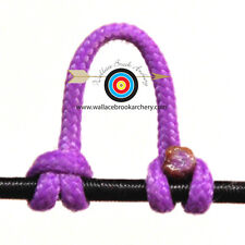 5 Pack Flo Purple Release Bow String Nock D Loop Bowstring BCY #24