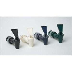 Blue Glass Ceramic Water Dispenser Crock Cooler Bottle Jug Faucet Valve Spigot