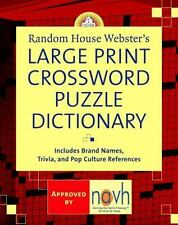 Random House Webster's Large Print Crossword Puzzle Dictionary by Stephen...