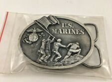 1982 Bergamot Brass Works The Few The Proud US Marines Military Belt Buckle USA