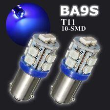 2x T11 BA9S 10 LED Super Bright Bombilla Interior Side Luz Lámpara Coche Azul