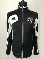 Adidas Columbus Crew MLS Soccer Football Black White Trackie TrackSuit Top S-M