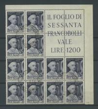 REPUBBLICA 1949 CIMAROSA BLOCO ANGOLARE US.