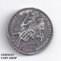 Medaille Silber 1974 650 Jahre Stadt Hadamar Landkreis Limburg Weilburg Ritter