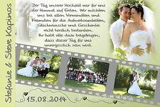 10 Danksagungskarten Hochzeit Danksagungen Fotokarte Hochzeitskarte Danke Foto