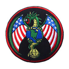 USA AIR FORCE U.S. ARMY AMERICAN DRAGON 3D BADGE TACTICAL EMBROIDERED HOOK PATCH
