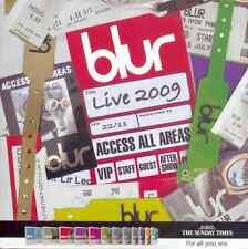 BLUR: LIVE 2009 - UK PROMO CD / 10 TRACKS: BEETLEBUM PARKLIFE, GIRLS & BOYS ETC