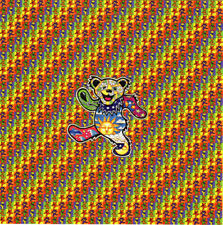 GD Small DANClNG BEARS BLOTTER ART perforated sheet paper psychedelic art