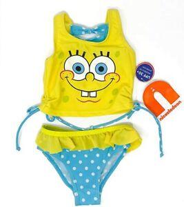 Toddler Two Piece Swinsuit Sport Tankini Set SpongeBob SquarePants.
