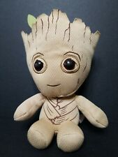 """Ty Marvel Groot Beanie 7"""" Plush Soft Toy - Bean Baby Avengers, Used"""