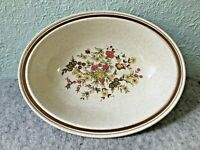 Royal Doulton Lambethware Gaiety Floral & Brown Band Oval Veggie Serving Bowl