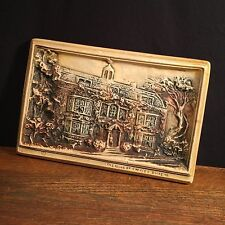 Vtg Charles Dickens Home Plaque 3d Chalkware London Wall Hanging Priority Mail