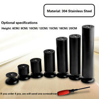 Adjustable Furniture Plinth Legs Stainless Steel Forcers Sofa Feet 6-20CM Black