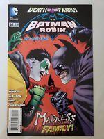BATMAN AND ROBIN #16 (2013) DC 52 COMICS DEATH OF THE FAMILY! JOKER! 1ST PRINT!