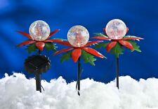 3er-Set LED Weihnachtsterne mit Farbwechsler Solarleuchte Weihnachtsbeleuchtung