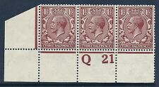 N18 (16) 1 1/2 d orange vif marron royal cypher control Q21 perf non montés mint/neuf sans charnière