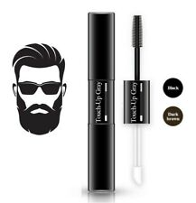 Men temporary beard dye brush on colour black easy wash out cover grey