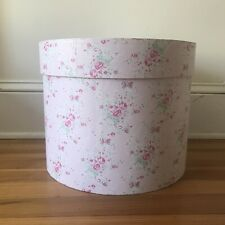 Tall Hat Box Floral Pink Cottagecore Annette Tatum Collection Tricoastal Designs