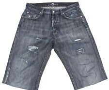 7 For All Mankind Men's Shorts Cut Off Distressed Denim Jeans Size 30