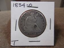 1854-0 SEATED HALF DOLLAR GOOD ++ (T)