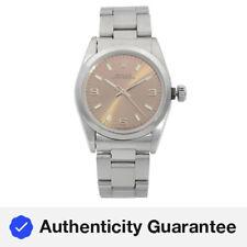 Rolex Oyster hora permanente de Acero Automático con Marcador de bronce hecho Damas Reloj de 1995 67480