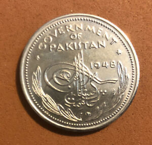 1948 Pakistan 1/4,1 Rupee-Set of 2 PROOF-Collectible Coins~KM#5,KM#7Combined S&H