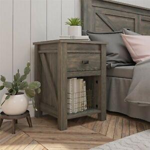 Ameriwood Home Farmington Nightstand, Weathered Oak