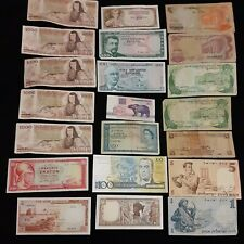 World (Mixed) Foreign Banknotes Currency Lot, Circulated 21 notes