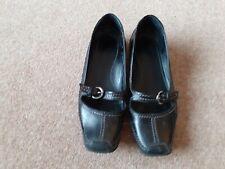 Womens shoes black shoe buckle detail size 6