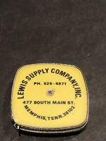Vintage Stanley Tape Measure Advertising 6' Lewis Supply Company Inc Memphis TN