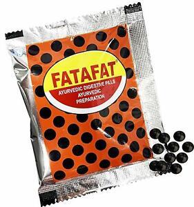 Pamul FATAFAT Ayurvedic Digestive Pills ( 10 Pouches X 12 Grams ) FREE SHIPPING