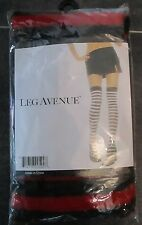 ♛ Leg Avenue Body Stockings PARTY STRIPE THIGH HIGHS Halterlose Strümpfe 36-38 ♛