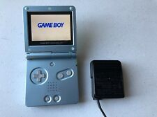 Gameboy Advance SP AGS-101 Pearl Blue System Handheld Brighter Screen w/ charger