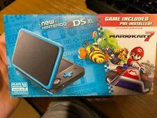 NEW Nintendo 2DS XL Mario Kart 7 Bundle Black Teal + Mario Kart 7 Game INCLUDED