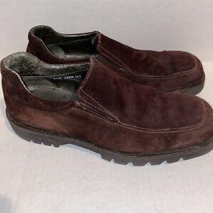 Donald J Pliner Brown Suede Mens Loafers Slip On Size 9.5M Ozzie