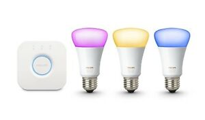 Philips Hue 3rd Generation Richer Colours 9W E27 Bulb Only or Hue Bridge 2.0