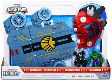 Marvel Playskool Heroes Super Hero Adventures 4 in 1 Helicarrier Mini Figure Set