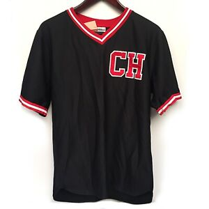 Vintage Riddell CH #15 Jersey Black and Red Womans Size L/42 Made In USA