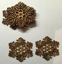WOODEN MDF CHRISTMAS SNOWFLAKE CRAFT SHAPES 3MM THICK TAGS-EMBELLISHMENTS